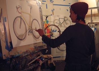 Taliah Lempert op Italiaanse Racefietsen